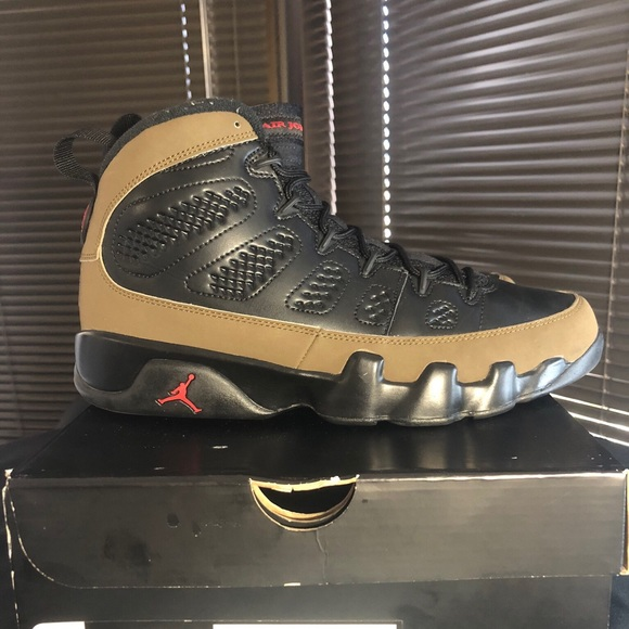 hot sale online c8776 9f5c2 Nike Air Jordan Retro 9 (Olive)